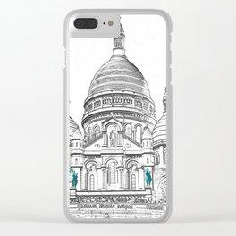 Sacre Coeur Basilica on Montmartre hill - Paris Clear iPhone Case