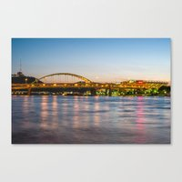 pittsburgh Canvas Prints featuring Pittsburgh by Nathaniel Fruchter