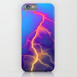 Lightning bolt, graphic art iPhone Case