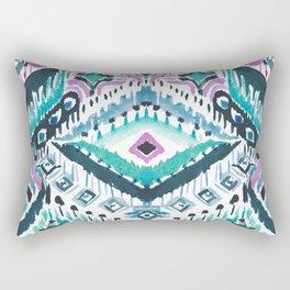 STAY WOKE Blue Tribal Rectangular Pillow