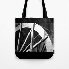 Waterwheel Gießenbach, black and white Tote Bag