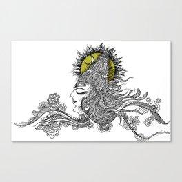 Shiva Moon Canvas Print
