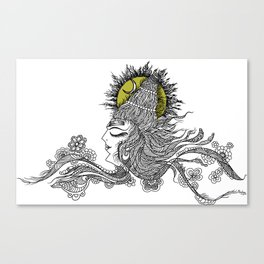 Shiva Moon Canvas Print
