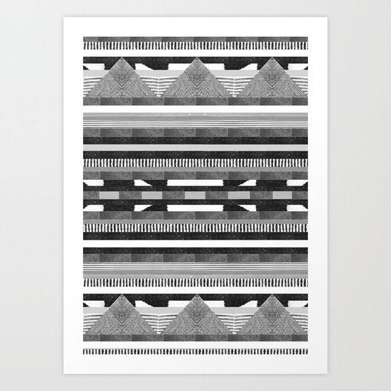 DG Aztec No.2 Monotone Art Print