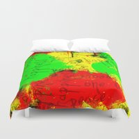 rasta Duvet Covers featuring Rasta by Kimberly