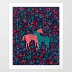 Unicorn Land Art Print