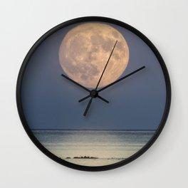 Spring Moonrise Wall Clock