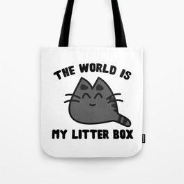 World Litter Box Tote Bag