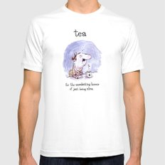 Tea - for the unrelenting horror of just being alive. Mens Fitted Tee White MEDIUM