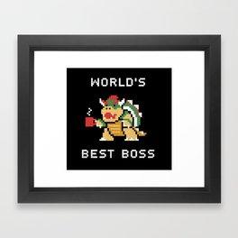World's Best Boss Framed Art Print