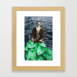 Waiting by the sea Framed Art Print