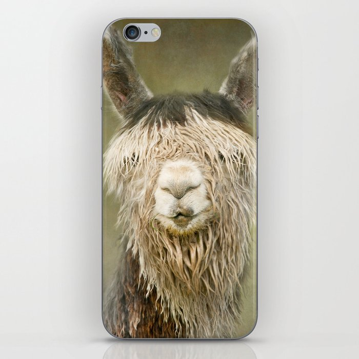 Alpaca with a fringe..! iPhone Skin