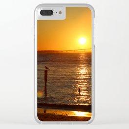 Jersey Shore Sunset-Portrait Clear iPhone Case