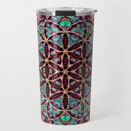 Flower of Life Mandala Travel Mug