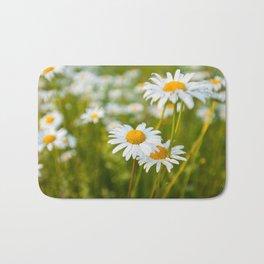 Camomile Summer Meadow Sunny Day Bath Mat
