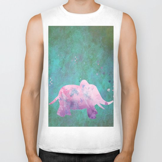 Love is in the air I- Animal Elephant on #Society6 Biker Tank