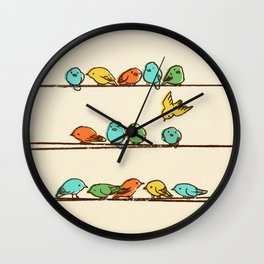 Hanging Out (multi-colored option) Wall Clock