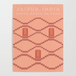 Panna Meena ka Kund, Jaipur, India Travel Poster Poster