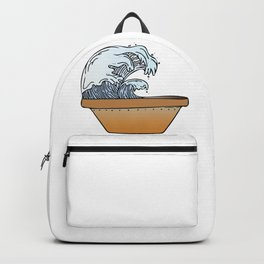 Potted Waves Backpack