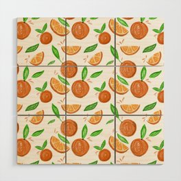 Happy Oranges Wood Wall Art
