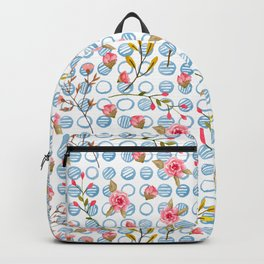 Cute and simple watercolour floral pattern Backpack