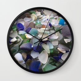 Sea Glass Assortment 2 Wall Clock
