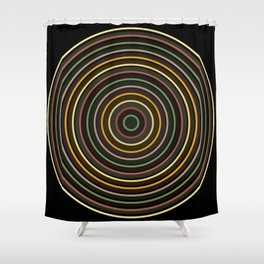 Colorful circle IV Shower Curtain