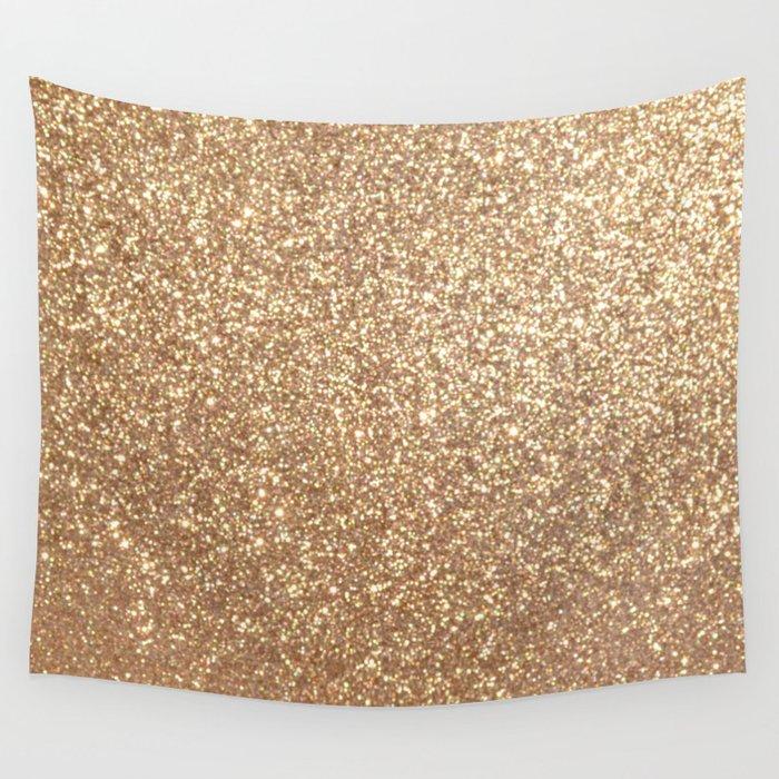 Copper Rose Gold Metallic Glitter Wall Tapestry by podartist | Society6