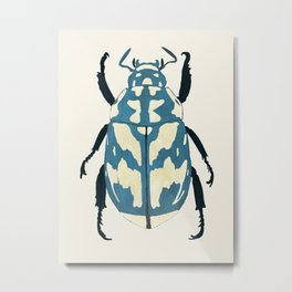 Blue beetle insect Metal Print