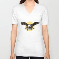 eagle V-neck T-shirts featuring Eagle by Anna Shell