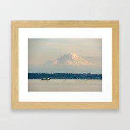 Mt. Rainier from the Ferry Framed Art Print