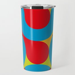 I really like this one, curves, circles, colors. Something Psychedelic probably. Or Acid. Travel Mug