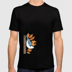 White-breasted Nuthatch SMALL Black Mens Fitted Tee