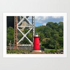 George Washington Bridge Lighthouse Art Print