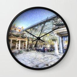 Covent Garden Market London Snow Art Wall Clock