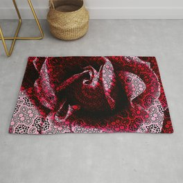 Rose Textured with Digital Lace Pattern Rug