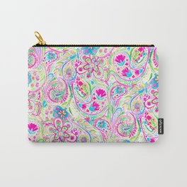 Paisley Watercolor Brights Carry-All Pouch