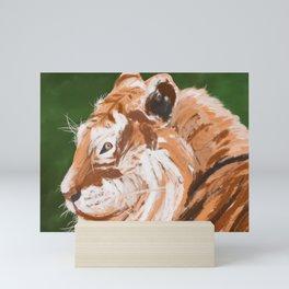 Tiger portrait Mini Art Print