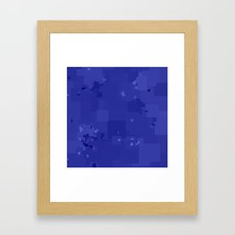Royal Blue Square Pixel Color Accent Framed Art Print