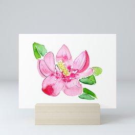 pink magnolia Mini Art Print