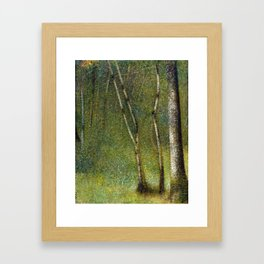 Georges Seurat The Forest at Pontaubert Framed Art Print