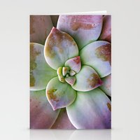 succulent Stationery Cards featuring Succulent by Lindsay Faye