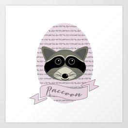 Mevrouw Raccoon Art Print