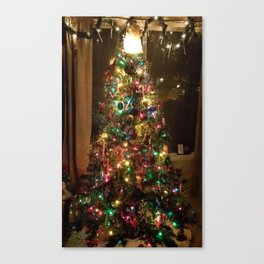 Eclectic Christmas Tree. Canvas Print