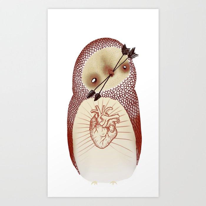 arrow owl  Art Print