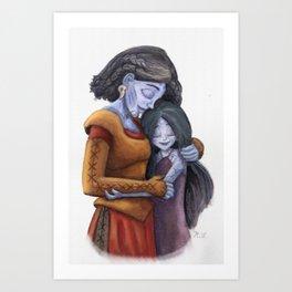Angrboda and Hela Art Print