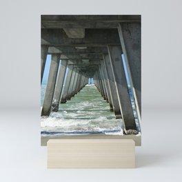 Under The Fishing Pier Mini Art Print