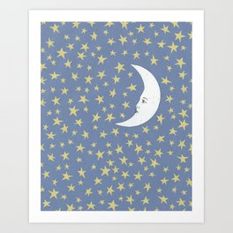 To the Mooon to the Starrs Art Print