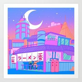 Ramen with Sensei Art Print