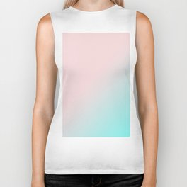 Simply Pink & Teal Color Gradient - Mix And Match With Simplicity of Life Biker Tank